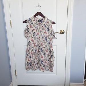 Large off the shoulder floral dress